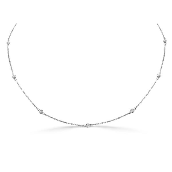 14k White Gold Diamond Necklace  Diamonds Direct St. Petersburg, FL