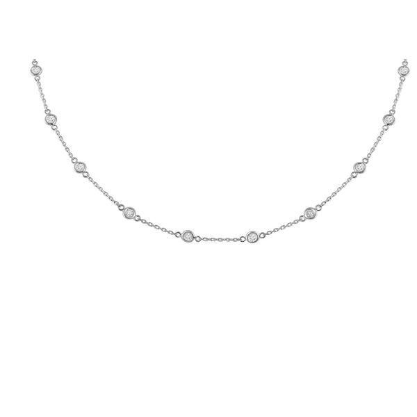 14k White Gold Diamond Necklace Diamonds Direct St. Petersburg, FL