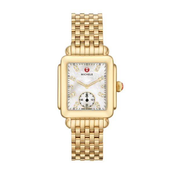 Deco Mid Gold, Diamond Dial Complete Watch Diamonds Direct St. Petersburg, FL