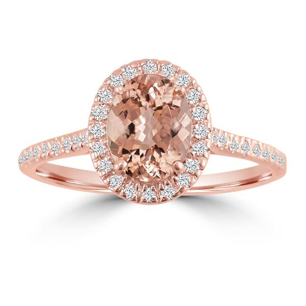 14k Rose Gold Morganite and Diamond Ring Diamonds Direct St. Petersburg, FL
