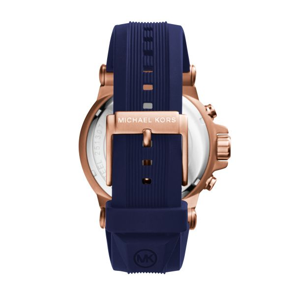Michael Kors Rose Gold and Navy Watch Image 2 Diamonds Direct St. Petersburg, FL