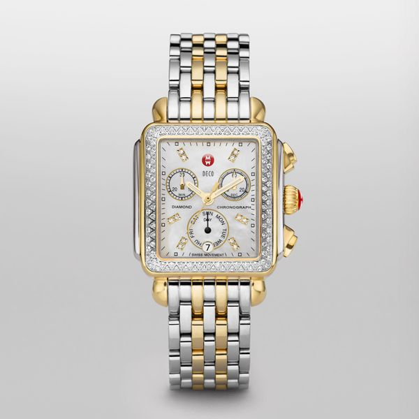 Deco Two-Tone Diamond, Diamond Dial Complete Watch Diamonds Direct St. Petersburg, FL