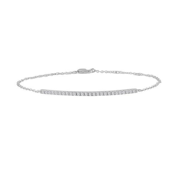 14k White Gold and Diamond Bolo Bracelet  Diamonds Direct St. Petersburg, FL