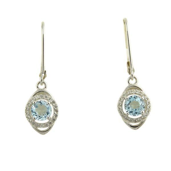 Sterling Silver Sky Blue Topaz Dangle Earrings Dickinson Jewelers Dunkirk, MD