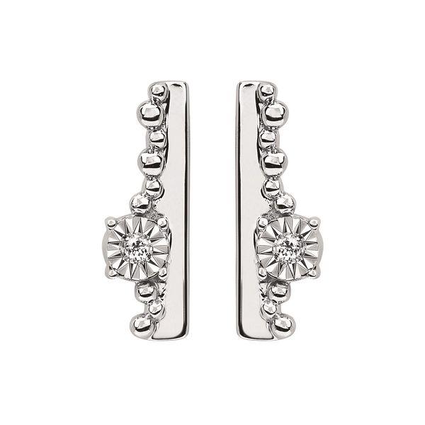 Ostbye Sterling Silver Diamond Earrings Diedrich Jewelers Ripon, WI