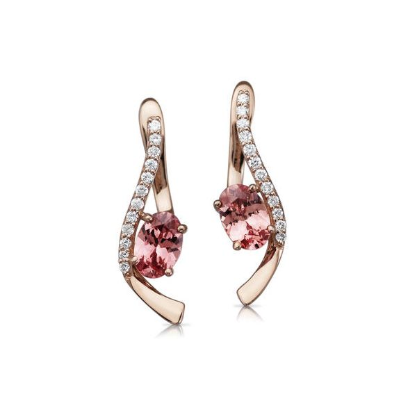 Lotus Garnet Earrings DJ's Jewelry Woodland, CA