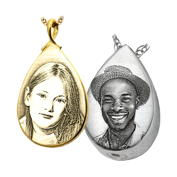 Tear Shaped Photo Pendant DJ's Jewelry Woodland, CA