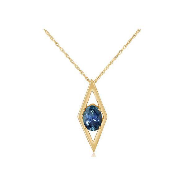 Montana Sapphire Pendant DJ's Jewelry Woodland, CA