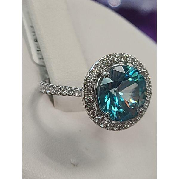 Blue Zircon Ring Image 2 DJ's Jewelry Woodland, CA