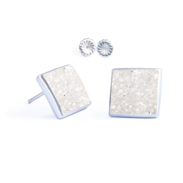 White Durzy Earrings DJ's Jewelry Woodland, CA