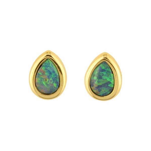 Opal Doublet Earrings _ Pear Cut DJ's Jewelry Woodland, CA
