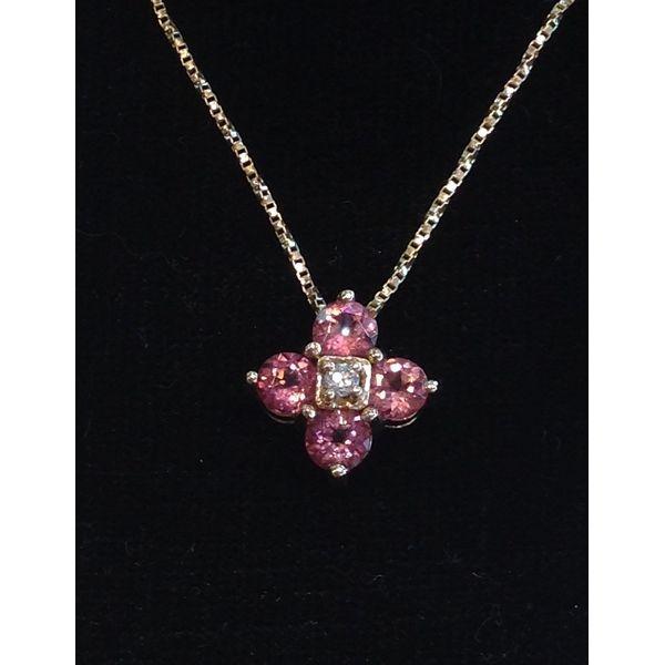 Pink Tourmaline Flower Pendant DJ's Jewelry Woodland, CA