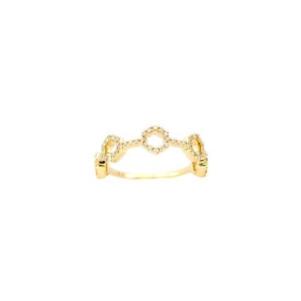 Honey Comb Diamond Ring Image 2 DJ's Jewelry Woodland, CA
