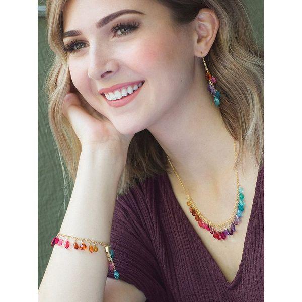 Rainbow Lorelei Earrings Image 3 DJ's Jewelry Woodland, CA