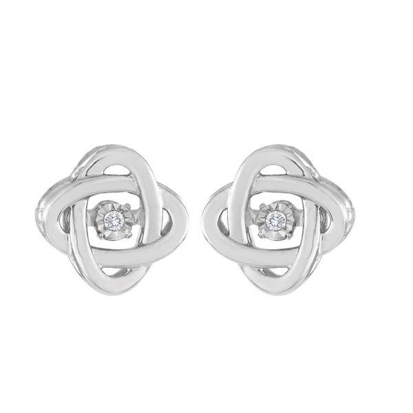 Sterling Silver Diamond Earrings DJ's Jewelry Woodland, CA