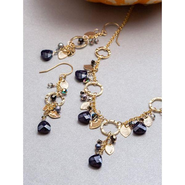 Galaxy Black Fairy Garden Drop Earrings Image 2 DJ's Jewelry Woodland, CA