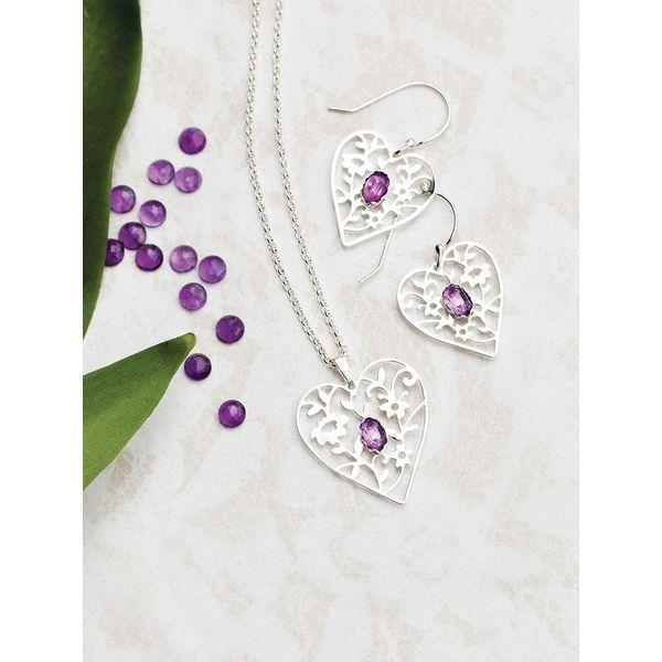 Blooming Heart Earrings Image 2 DJ's Jewelry Woodland, CA