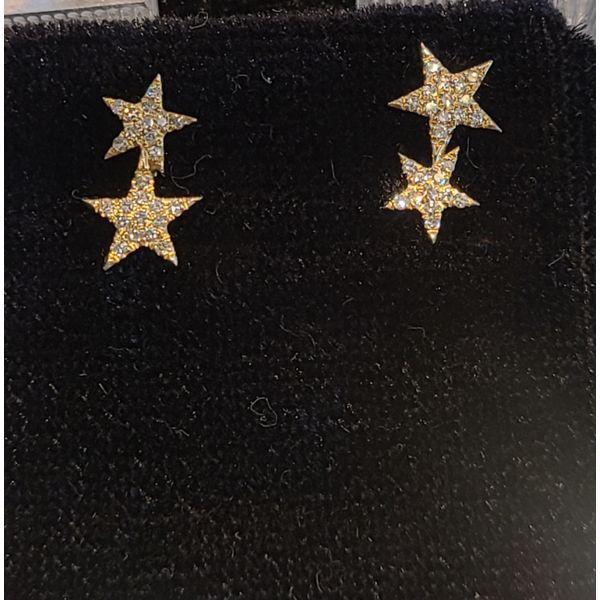 Diamond Star Earrings DJ's Jewelry Woodland, CA