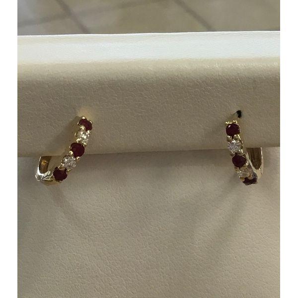 Ruby and Diamond Earrings DJ's Jewelry Woodland, CA