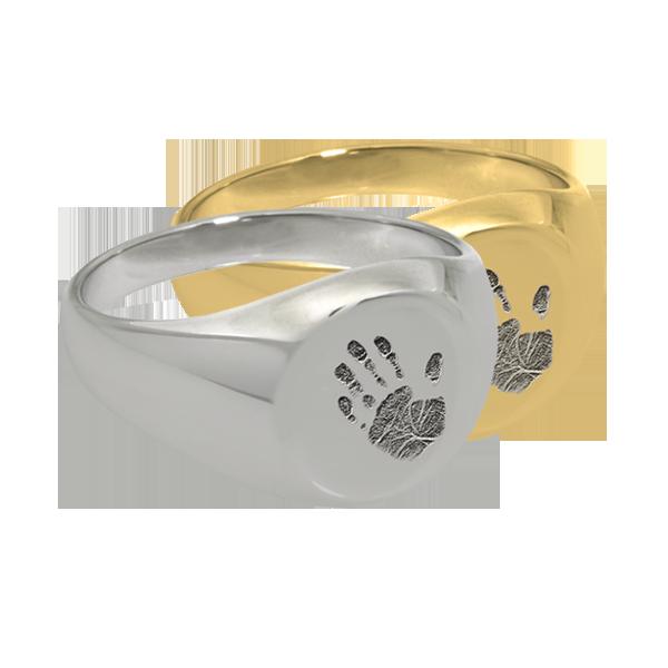 Round Hand Print Ring DJ's Jewelry Woodland, CA