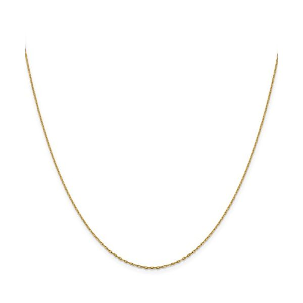 14K Yellow Gold Elongated Cable Chain DJ's Jewelry Woodland, CA