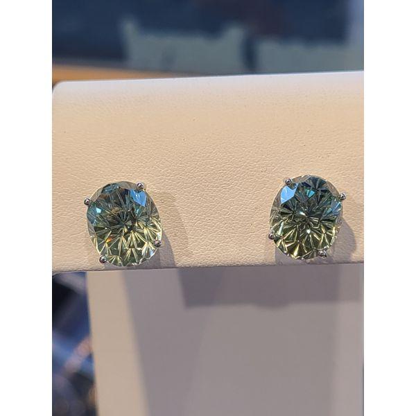 Green Amethyst Earrings DJ's Jewelry Woodland, CA