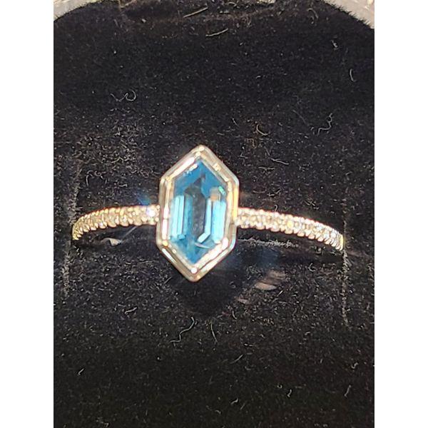 Topaz and Diamond Ring DJ's Jewelry Woodland, CA