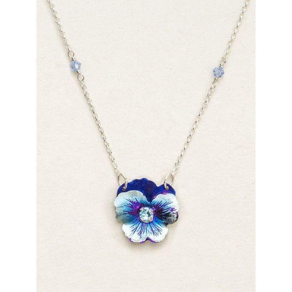 Bonnie Blue Garden Pansy Necklace DJ's Jewelry Woodland, CA