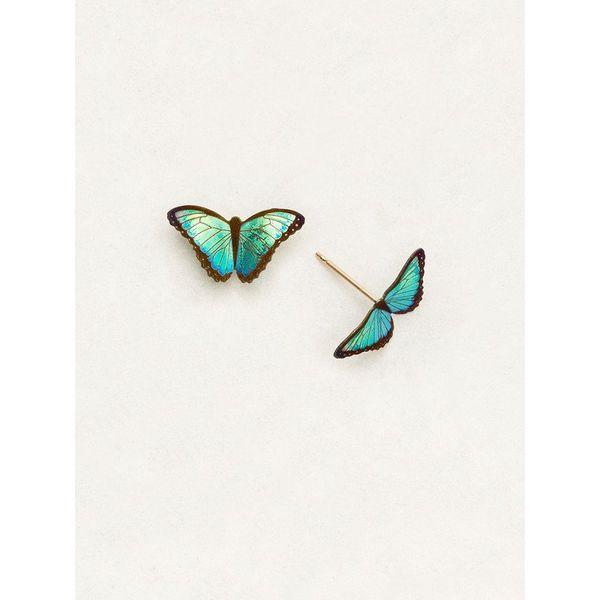Green Flash Petite Bindi Butterfly Earrings DJ's Jewelry Woodland, CA