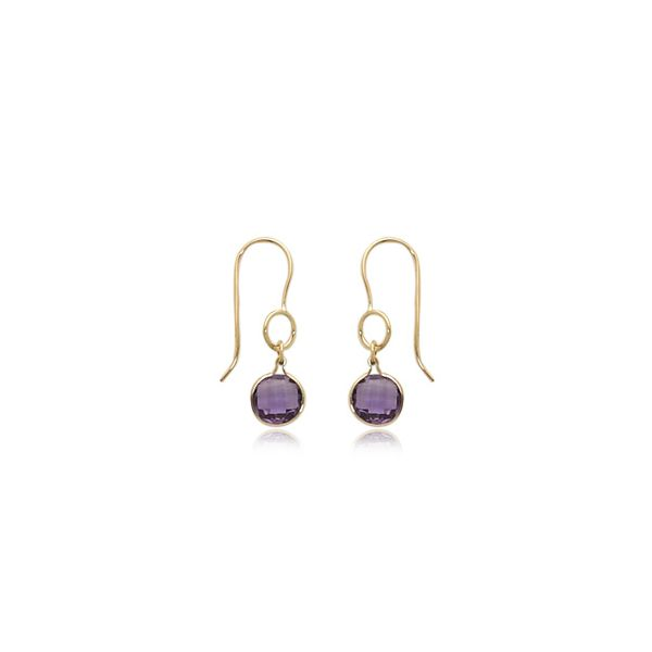 Yellow Gold and Amethyst Earrings DJ's Jewelry Woodland, CA