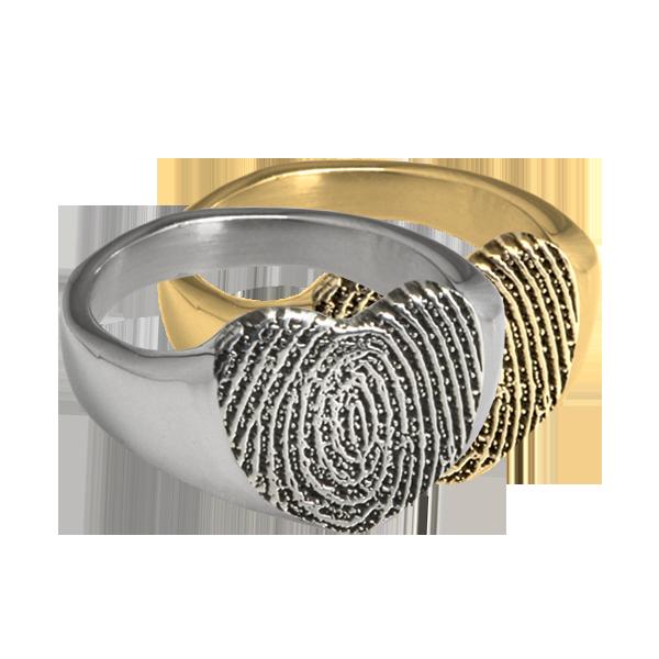 Heart Print Ring DJ's Jewelry Woodland, CA