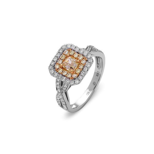 Yellow Diamond Double Halo Ring DJ's Jewelry Woodland, CA