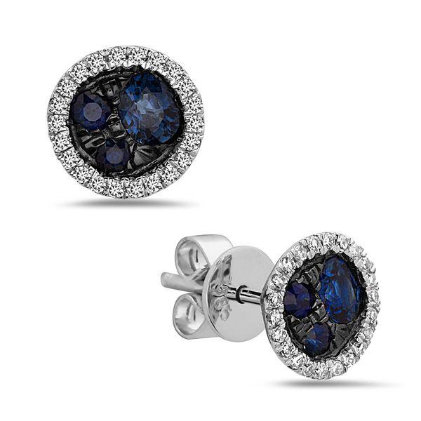 Sapphire Cluster Earrings DJ's Jewelry Woodland, CA