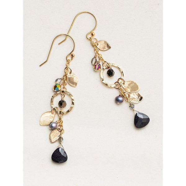 Galaxy Black Fairy Garden Drop Earrings DJ's Jewelry Woodland, CA