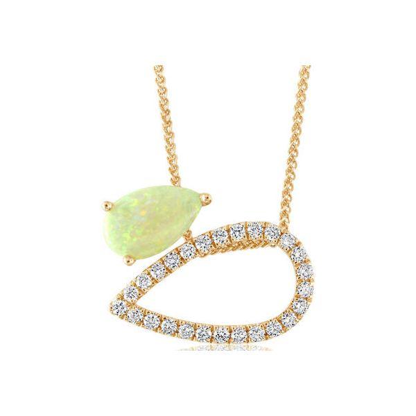 Opal and Diamond Necklace DJ's Jewelry Woodland, CA