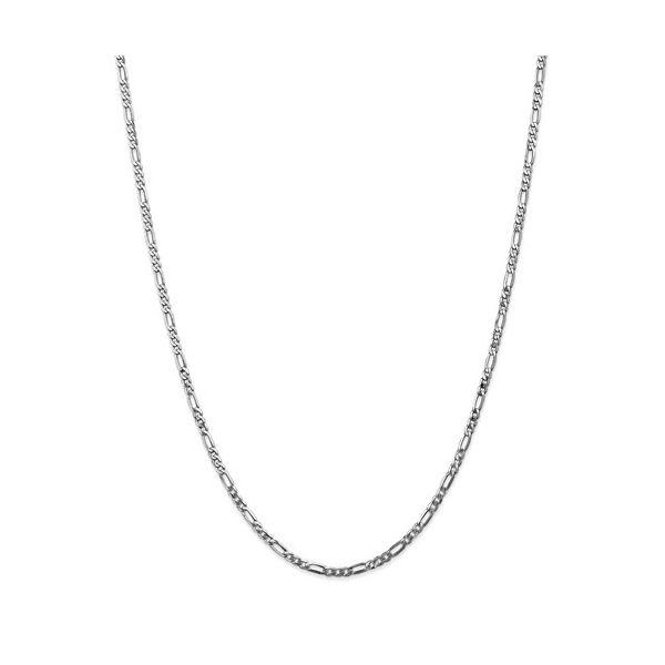 14K White Gold Figaro Chain DJ's Jewelry Woodland, CA