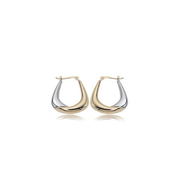 Two Tone Gold Hoop Earrings DJ's Jewelry Woodland, CA