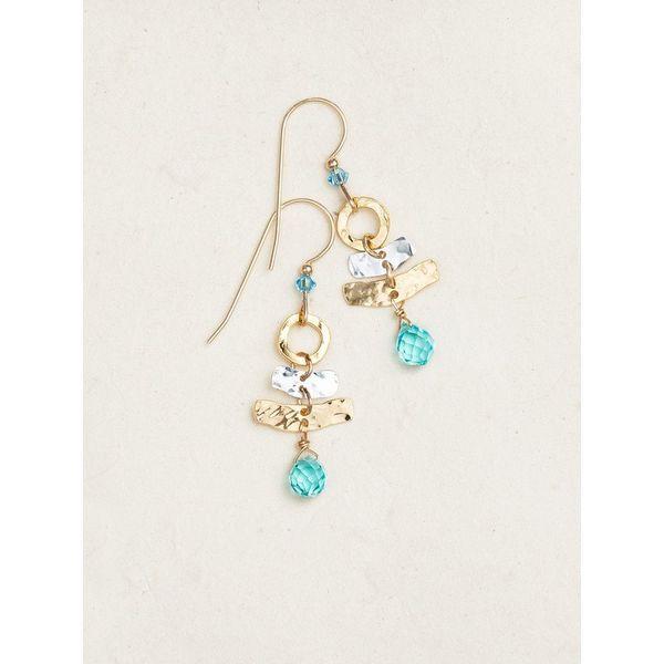 Sky Blue Ciel Sparkle Earrings DJ's Jewelry Woodland, CA