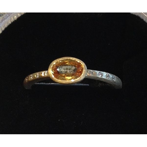 Yellow Sapphire and Diamond Ring DJ's Jewelry Woodland, CA
