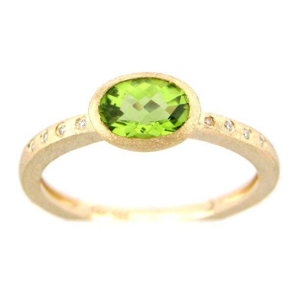 Green Sapphire and Diamond Ring Image 2 DJ's Jewelry Woodland, CA