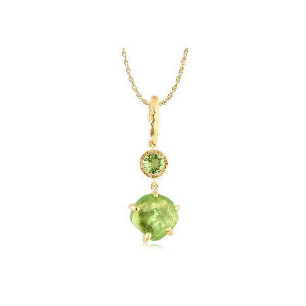 Mint Garnet Pendant DJ's Jewelry Woodland, CA