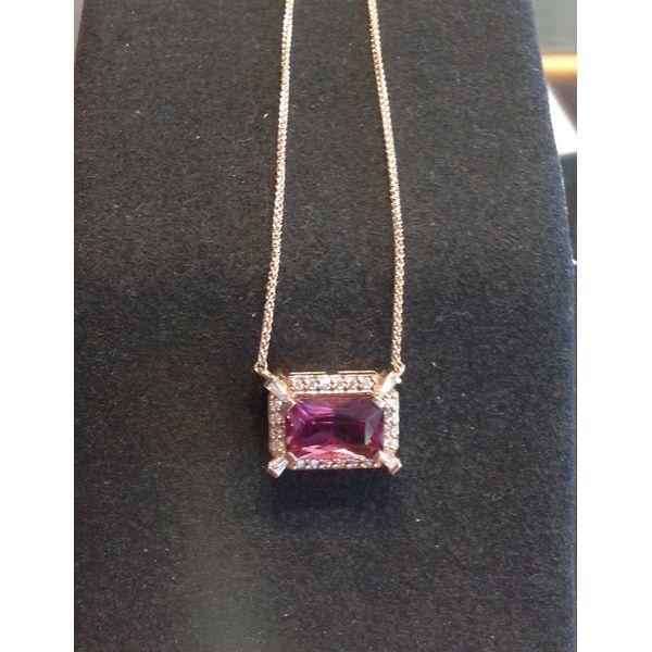 Garnet and Diamond Pendant DJ's Jewelry Woodland, CA
