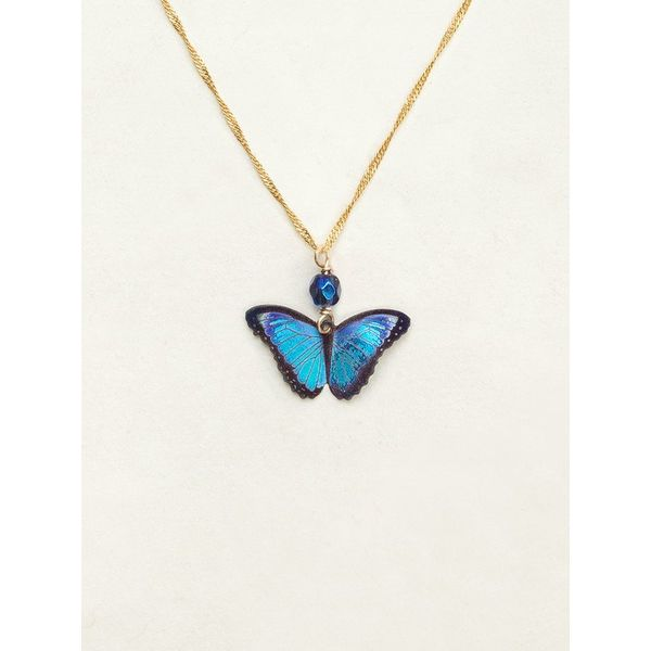 Blue Flash Bella Butterfly Pendant DJ's Jewelry Woodland, CA