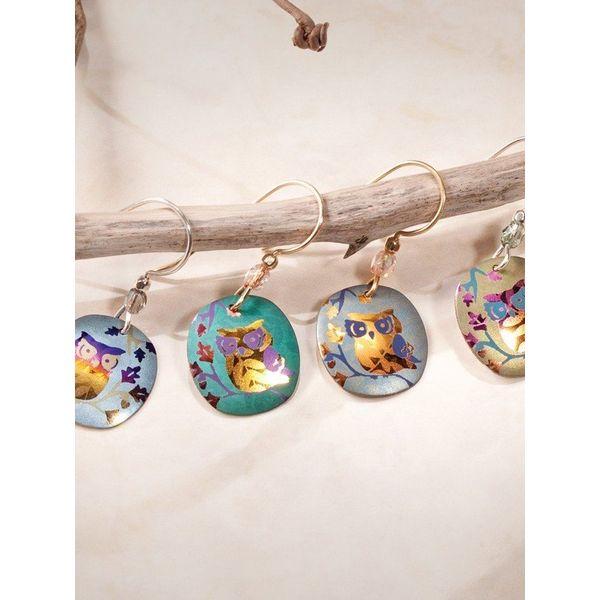 Wise Owl Earrings Image 2 DJ's Jewelry Woodland, CA