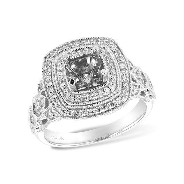 Double Halo Semi-Mount Ring DJ's Jewelry Woodland, CA