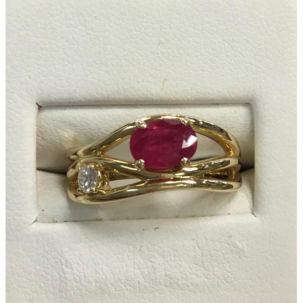 Ruby and Diamond Ring DJ's Jewelry Woodland, CA