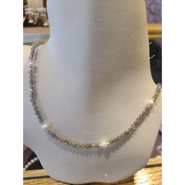 Labradorite and Pearl Necklace DJ's Jewelry Woodland, CA