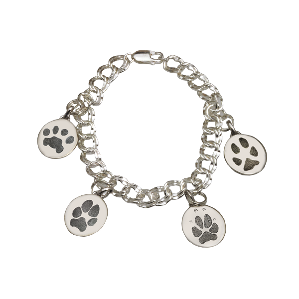 Paw Print Charm Bracelet DJ's Jewelry Woodland, CA