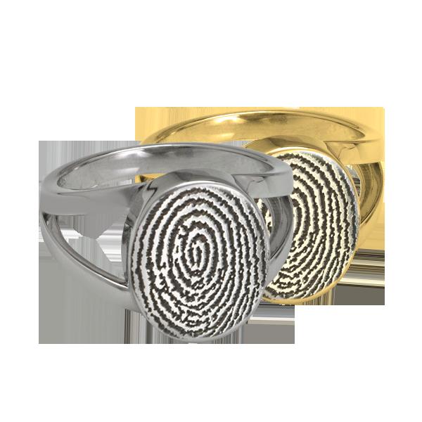 Oval Finger Print Ring  DJ's Jewelry Woodland, CA