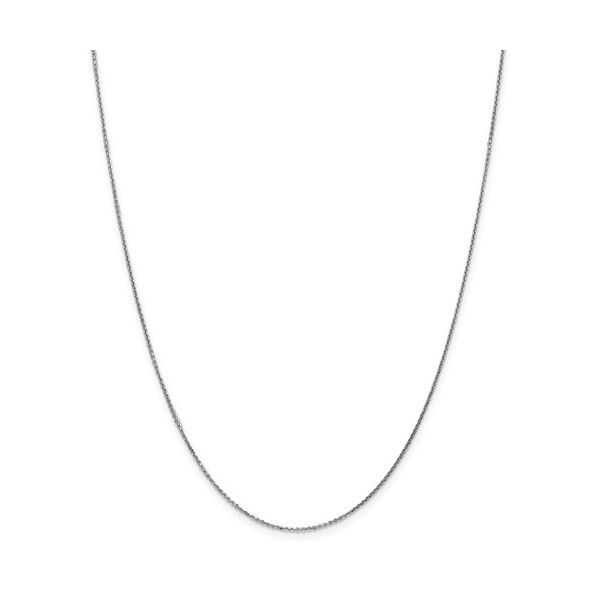 14K White Gold Cable Chain DJ's Jewelry Woodland, CA